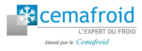 Logo cemafroid, l'expert du froid